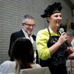 Miriam Rodríguez, chef de la duquesa, presentando su Muslo de Pato relleno con chantarella, con pechuga de pato ahumada al aceite cítrico.